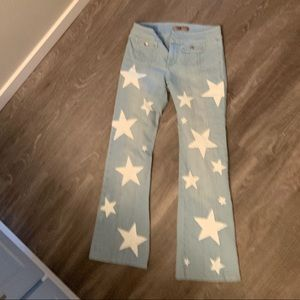Hand painted star jeans!!! Size 6!